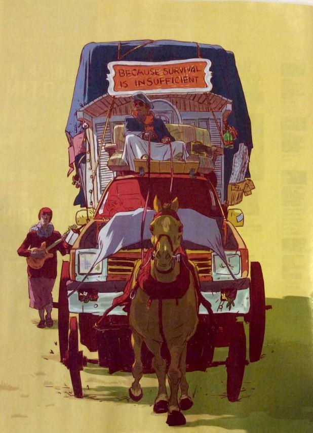 A caravana principal (ilustração da revista Entertainment Weekly)