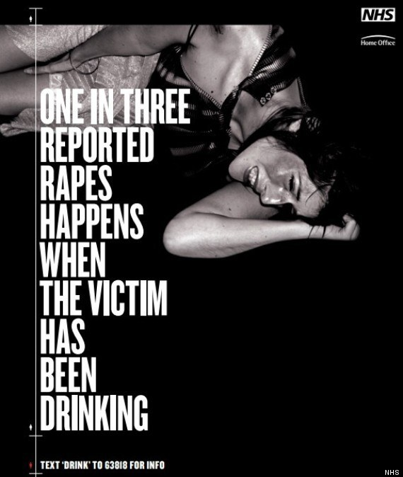 Um em cada três casos reportados de estupro acontecem quando a vítima estava bebendo.